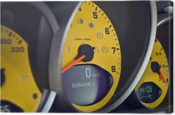 PORSCHE MotorSport-Detail Canvas Print