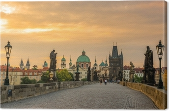 Prague ,Charles bridge Canvas Print