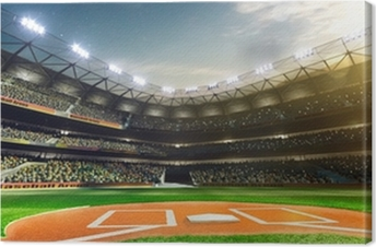 Professional baseball grand arena in sunlight Canvas Print