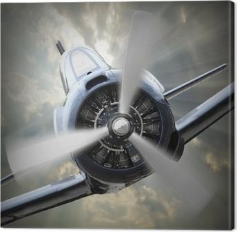 Propeller plane. Canvas Print