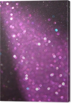 purple and silver glitter lights. defocused lights. Canvas Print