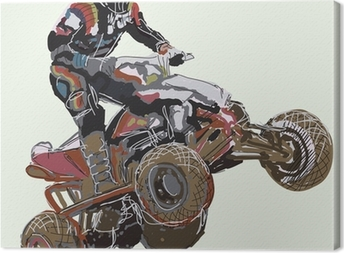 Quad bike. Canvas Print