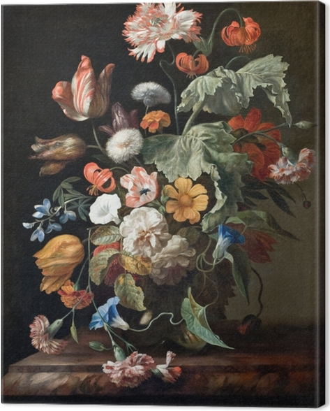 Rachel Ruysch - Still-Life with Flowers Canvas Print - Reproductions