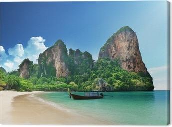 Railay beach in Krabi Thailand Canvas Print
