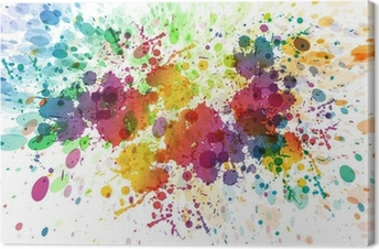 raster version of Abstract colorful splash background Canvas Print