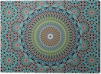 Razil Moorish Seamless Pattern Canvas Print