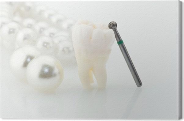 real human wisdom tooth natural pearls anв dental drill canvas print