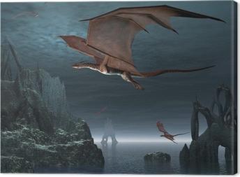 Red Dragon Islands Canvas Print