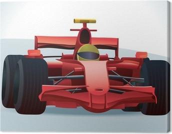 Red F1 Racing Car Canvas Print
