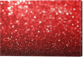 Red glitter background Canvas Print