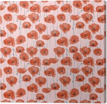 Red poppies - Nina Ho Canvas Print