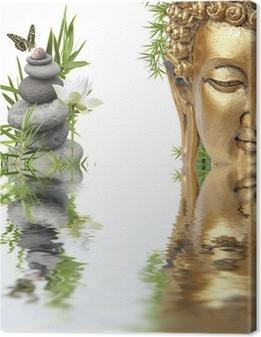 reflets de Bouddha Canvas Print