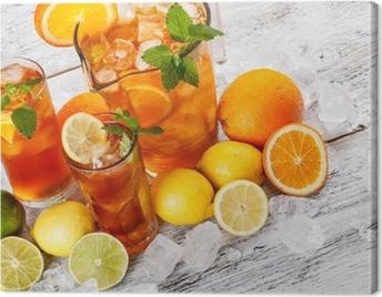 Refreshing ice tea Canvas Print
