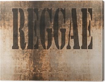 reggae word music abstract grunge background Canvas Print