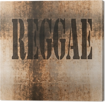 reggae word music abstract grunge background Canvas Print