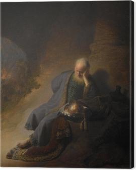 Rembrandt - Jeremiah Mourning Over the Destruction of Jerusalem Canvas Print