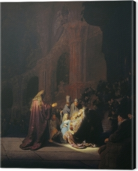 Rembrandt - Simeon in the Temple Canvas Print