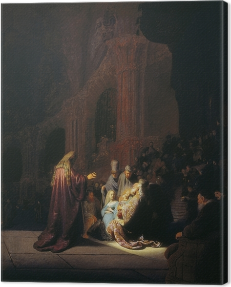 Rembrandt - Simeon in the Temple Canvas Print - Reproductions