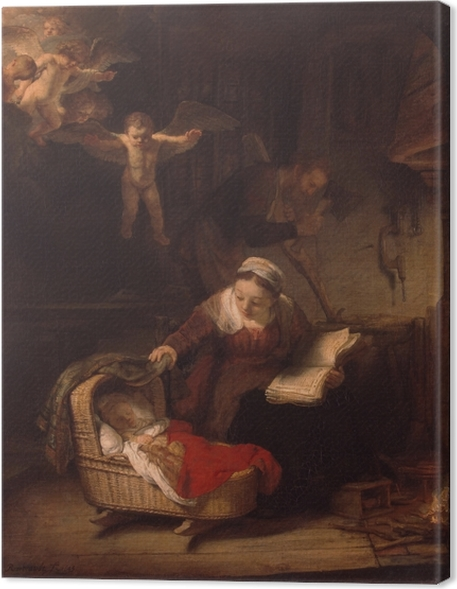 Rembrandt - The Holy Family Canvas Print - Reproductions