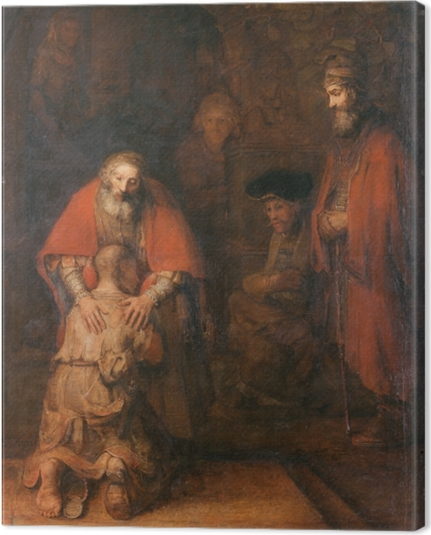 Rembrandt - The Return of the Prodigal Son Canvas Print - Reproductions