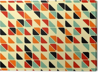 Retro abstract seamless pattern with triangles Canvas Print