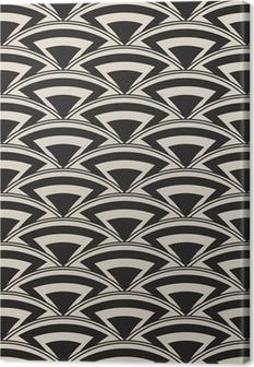 Retro antique seamless pattern in art deco style Canvas Print