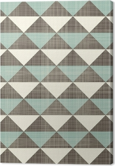 retro geometric triangles seamless pattern Canvas Print