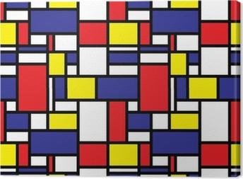 Retro Seamless Grid Pattern Canvas Print