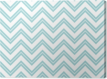 Retro Seamless Pattern Chevron Small Stripe Turquoise Canvas Print