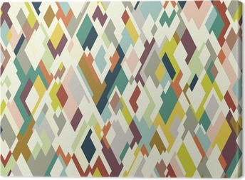Rhombuses seamless pattern Canvas Print