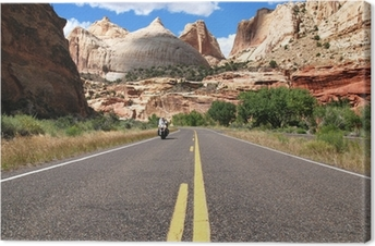 Riding Capitol Reef Canvas Print