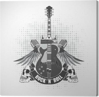 Rock n roll symbol Canvas Print