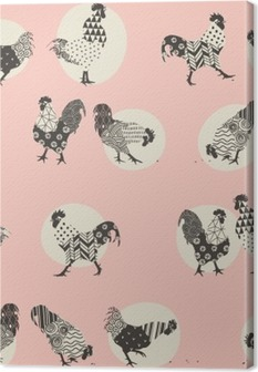 roosters Canvas Print