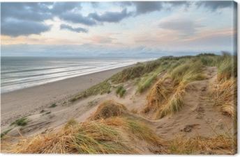 Rossbeigh beach dunes at sunset, Ireland Canvas Print