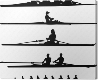 rowing collection - vector Canvas Print