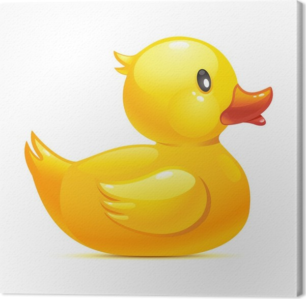 Rubber duck Canvas Print • Pixers® • We live to change