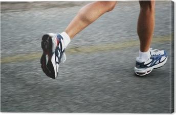 running woman Canvas Print