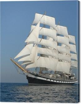 Sailing ship. series of ships and yachts Canvas Print