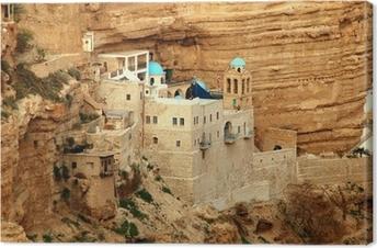 saint george's monastery, wadi kel jericho, israel Canvas Print