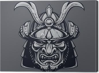 Samurai mask Canvas Print