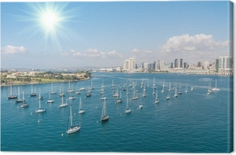 San Diego skyline and Waterfront Canvas Print