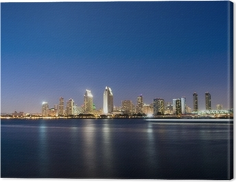 San Diego Skyline at Night Canvas Print