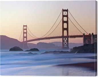 San Francisco's Golden Gate Bridge at Dusk Canvas Print