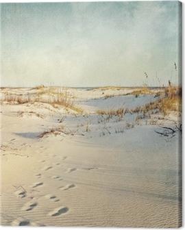 Sand Dunes at Sunset Textured Image Canvas Print
