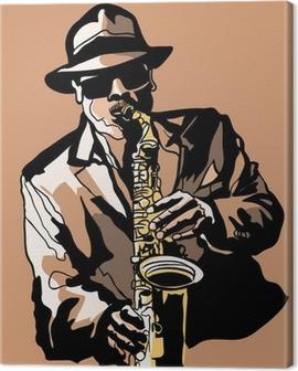 Saxophone player Canvas Print