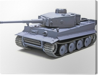 "Scale model German tank ""TIGER"" Canvas Print"