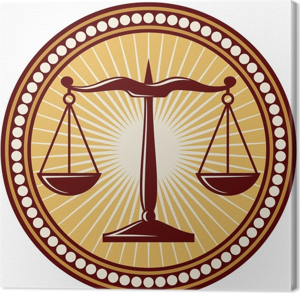 Scales Of Justice Symbol Canvas Print Pixers We Live To Change