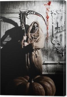 Scary death Canvas Print