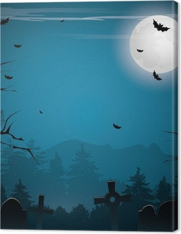 Scary Halloween background Canvas Print
