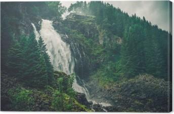 Scenic Norwegian Waterfall Canvas Print
